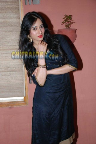 Harshika Poonacha Image From Chitte Pressmeet