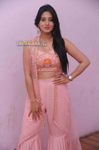 Harshika Poonacha Image From Chitte Audio Launch