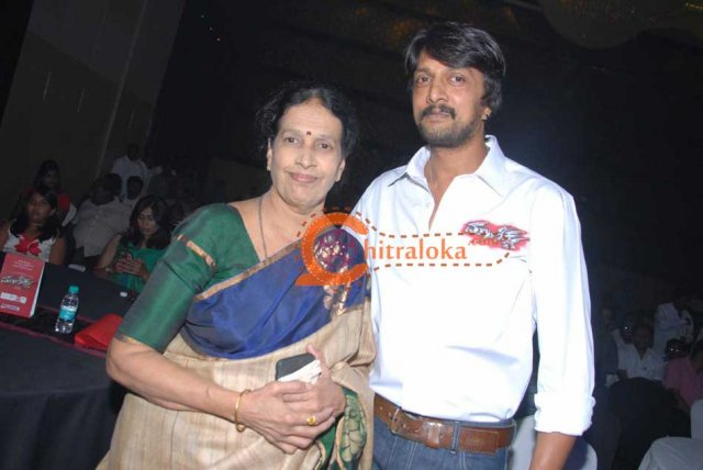 Sudeep With Mother Image