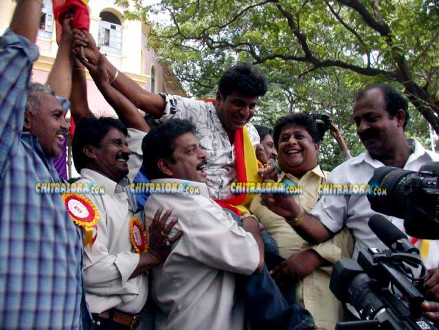 Kannada Movie Industry Protest Image