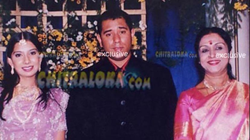 pooja gandhi hubby ramanand first marriage with indira grand daughter of b saroja devi
