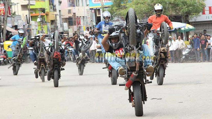 shivajinagara movie stunts