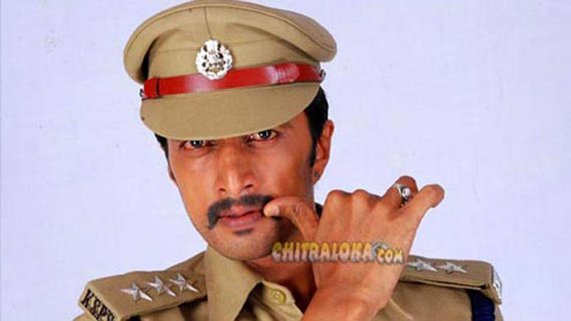 Sudeep images in police dress uniforms