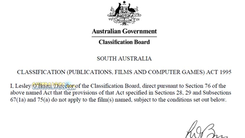 movie censor in australia image