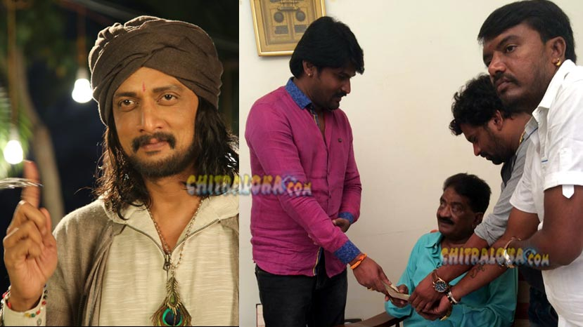 sudeep fans association help satyajith