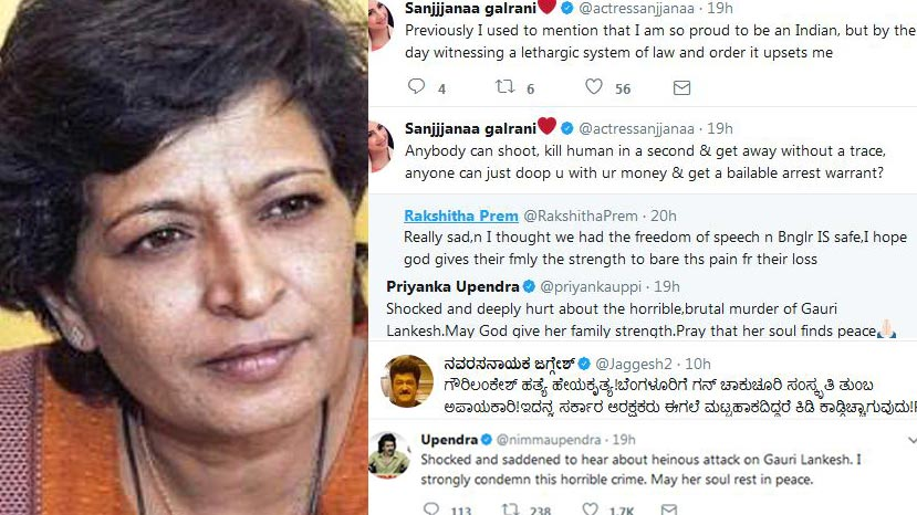 tweets on gauri lankesh