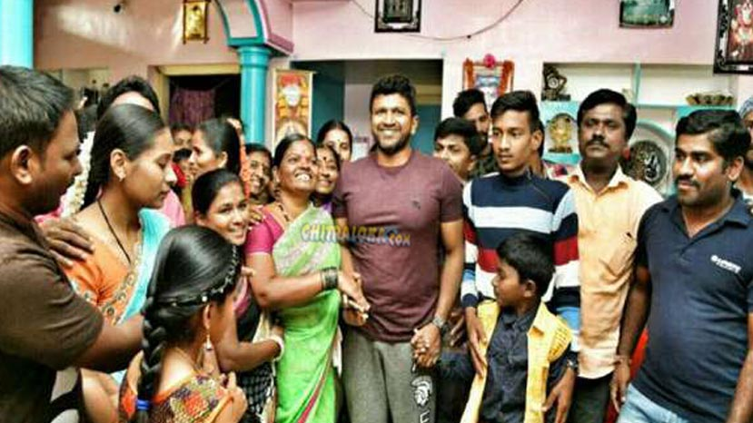 puneeth with his fans