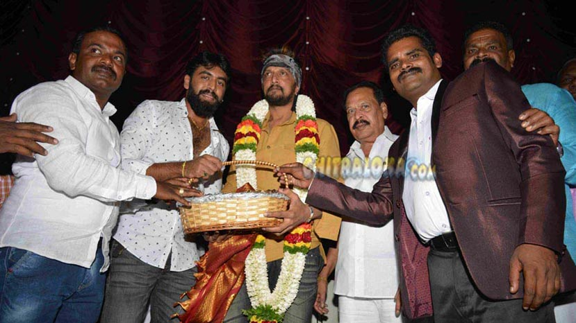 sudeep released trailer of saguva dariyalli