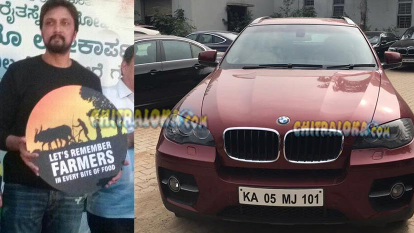 sudeep, bmw car
