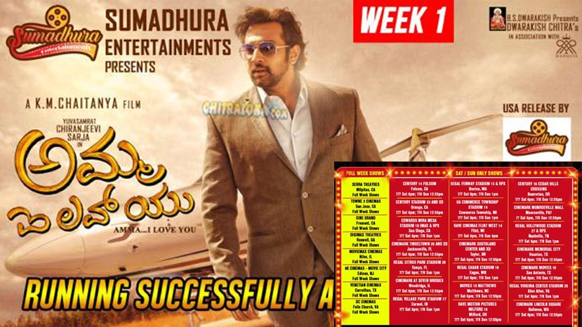 full week shows for amma i love you