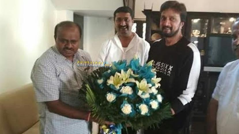 hdk clarifies about his meet with sudeep