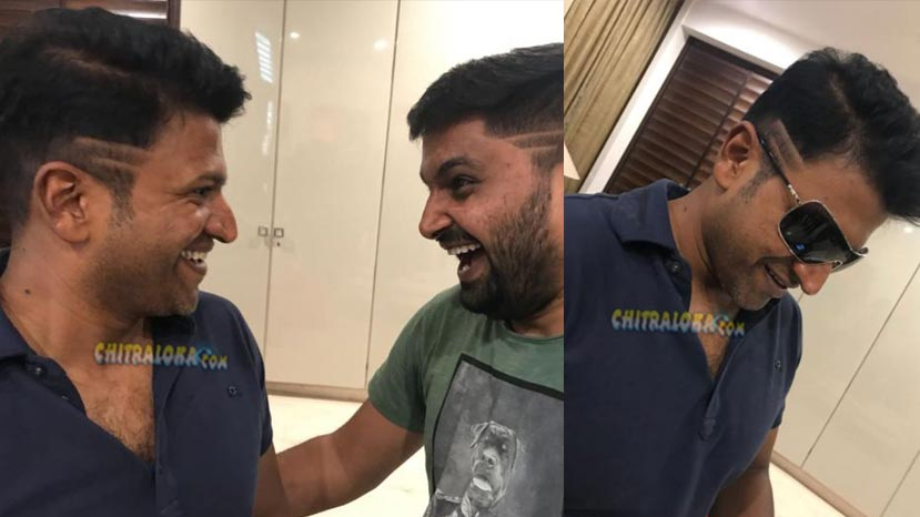 puneeth rajkumar sports new hairstyle
