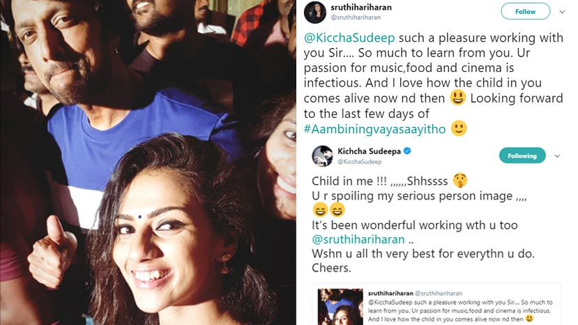sruthi thanks sudeep