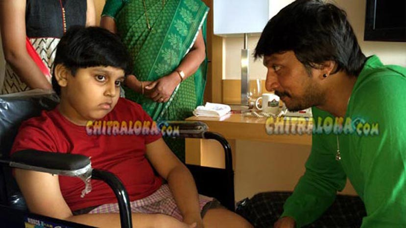 sudeep's young fan aditya no more