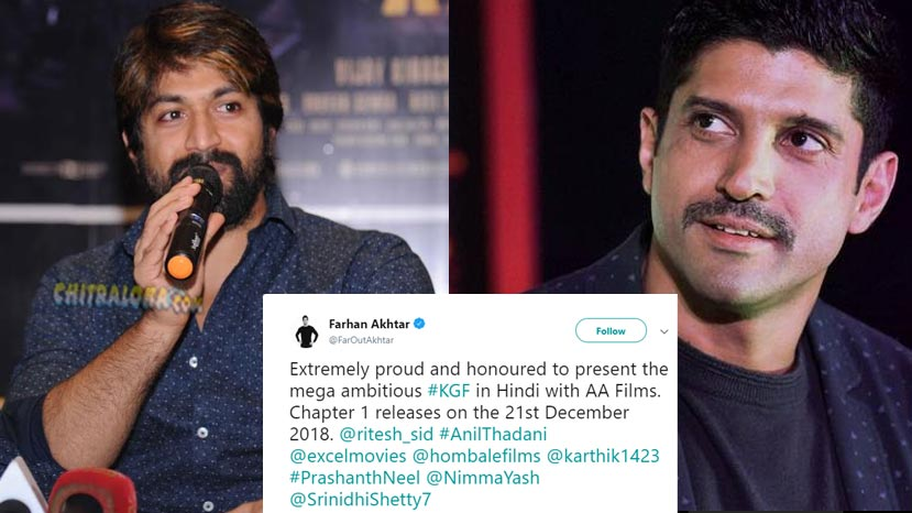 farhan aktar to distribute hindi version of kgf