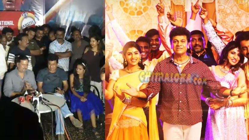 shivanna watches kavacha movie with fans