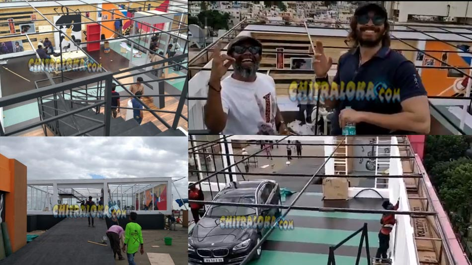 grand set constructed for raymo movie near vijaynagar metro station