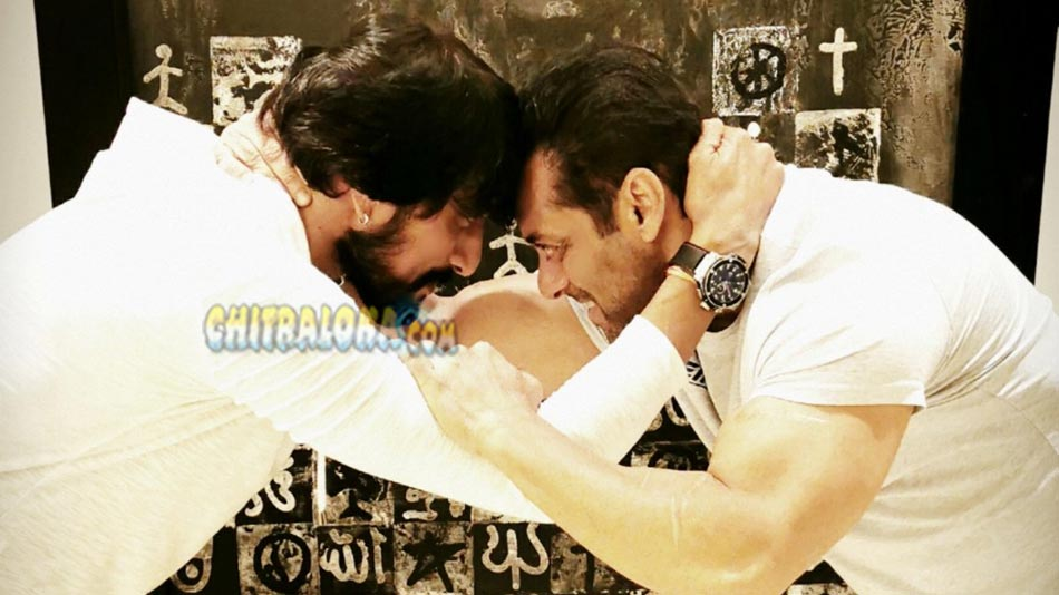 salman khan's kannada teacher is namma kiccha