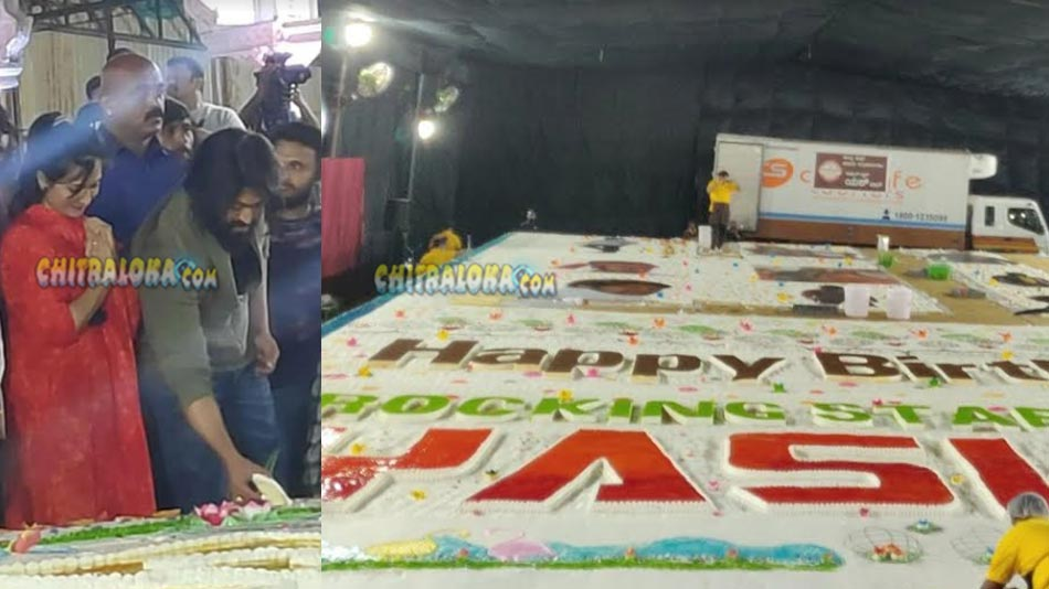 5000 kg cake for rocking star's birthday