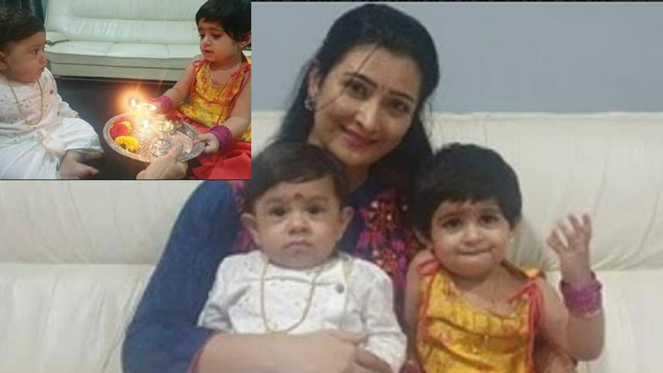 yash and radhika pandit's kids celebrate rakhi