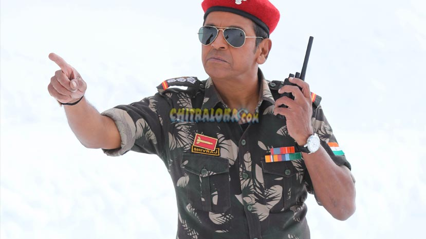 shivarajkumar as army officer in leader