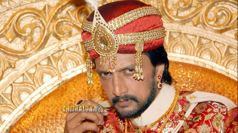 Sudeep image from Vishnuvardhana movie